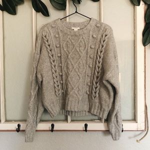 H&M Sweaters - (H&M) grey chunky oversized sweater super soft